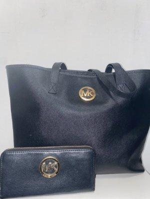 Michael Kors Shopper black-gold-colored