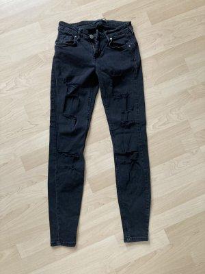 Bershka Skinny Jeans black-anthracite