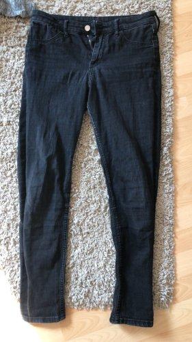 Schwarze Mittelhohe Jeans