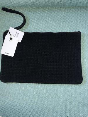 Schwarze MNG Authentic Leather Clutch von Mango Neu