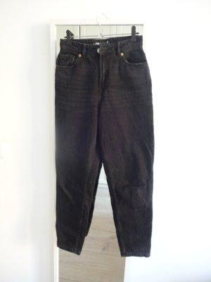 Amisu Hoge taille jeans zwart Katoen