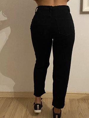 Schwarze Mom Jeans