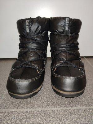 schwarze Moon Boot Low Nylon WP in Größe 38