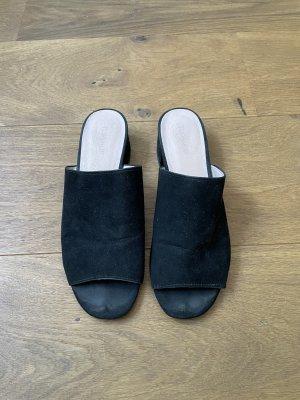 Schwarze Mules, Pantoletten mit Absatz Topshop Größe 38