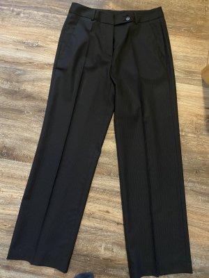 René Lezard Pantalon à pinces noir