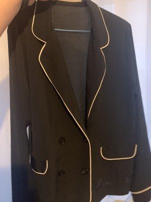 Zara Shirt met lange mouwen zwart-wit