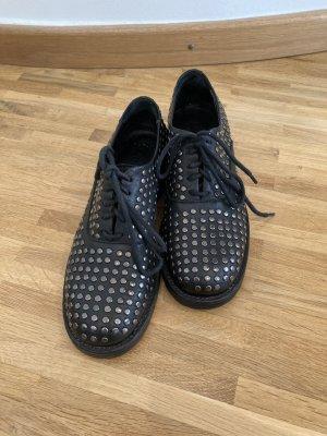 Lemaré Chaussures à lacets noir cuir