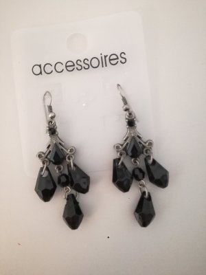 Accessoires Dangle black-silver-colored
