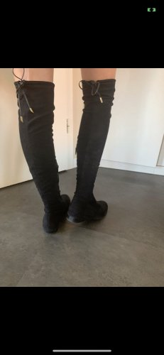 Schwarze overknee boots Stiefel