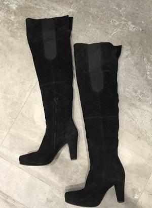 Schwarze Overknee Stiefel Echtes  Größe 39