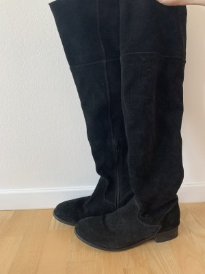 Schwarze Overknee-Stiefel von Zign