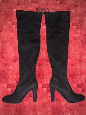Charlotte Russe Kniehoge laarzen zwart