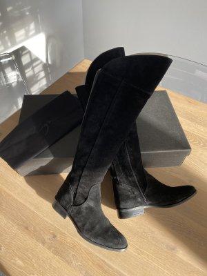 Zign Botas sobre la rodilla negro Cuero