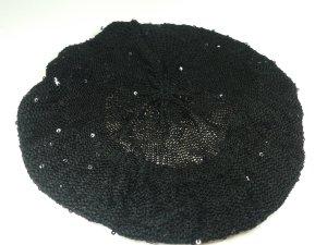 H&M Cappello in tessuto nero-argento