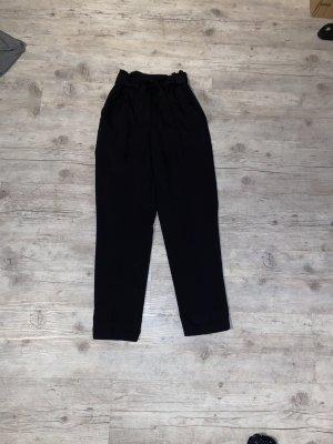 Schwarze Paperbag Hose