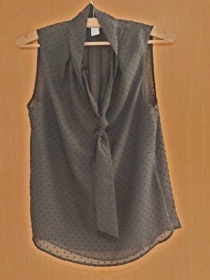 Schwarze Party-Bluse mit Schluppe Gr. 32 H&M