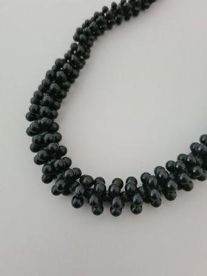 Vintage Collier de perles noir