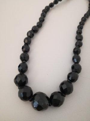 Vintage Collana di perle nero-argento