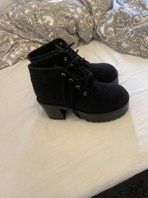 Schwarze Plataeu Schuhe