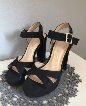 Platform High-Heeled Sandal black
