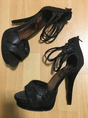 Catwalk High Heel Sandal black mixture fibre