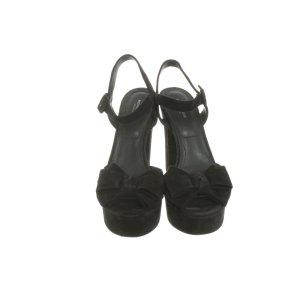 Michael Kors Platform High-Heeled Sandal black leather