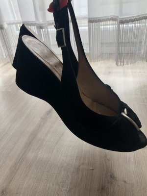 John Grey Platform High-Heeled Sandal black