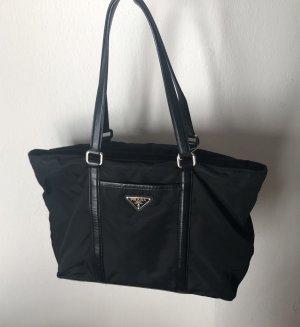 schwarze PRADA-Handtasche VINTAGE tessuto / NP 1990 €