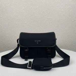 Schwarze Prada Tasche