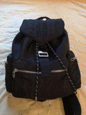 Pull & Bear School Backpack black nylon