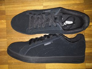 Puma Basket à lacet noir