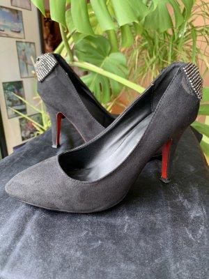 Accessoires Zapatos de punta negro-rojo