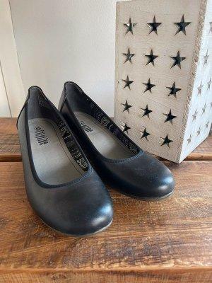 Escarpins Mary Jane noir tissu mixte