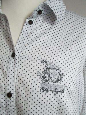 Gerry Weber Camicetta a maniche lunghe bianco-nero Cotone