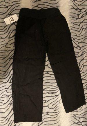 PURO LINO Lniane spodnie czarny