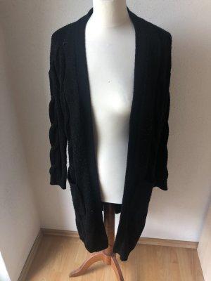 Schwarze/r lange/r Strickjacke/cardigan