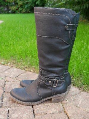 Schwarze Rieker Stiefel