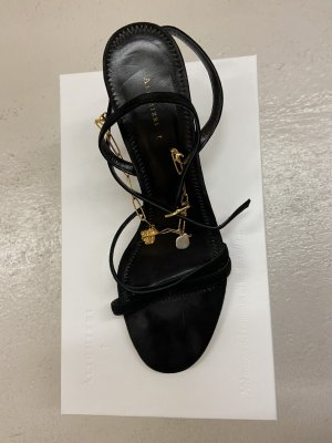 Sandalias de tiras negro Gamuza