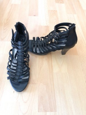 CityLine Sandalo con cinturino e tacco alto nero-marrone chiaro