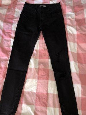 Pull & Bear Pantalón de tubo negro