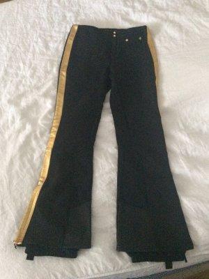 schwarze RLX Skihose mit Golddetail