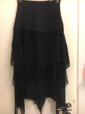 Guzella Asymmetry Skirt black