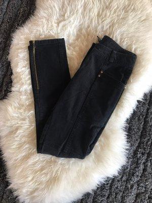 H&M Pantalon en velours côtelé noir