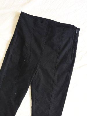 Schwarze Röhrenhose / High Waist Hose