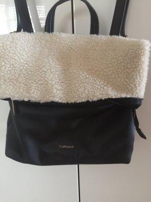 Topshop Shoulder Bag black-white