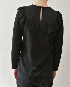 Hallhuber Bluzka z falbankami czarny