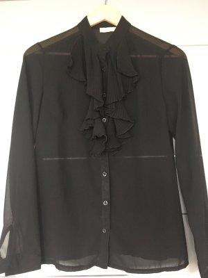 Schwarze Rüschen-Bluse Gr. 36/38 Road Collection
