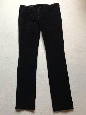 Schwarze Samt Hose von Gucci