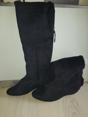 schwarze samt Stiefel