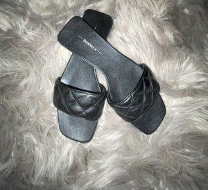 Bershka Beach Sandals black